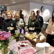Pink ribbon breakfast at Varian Finland